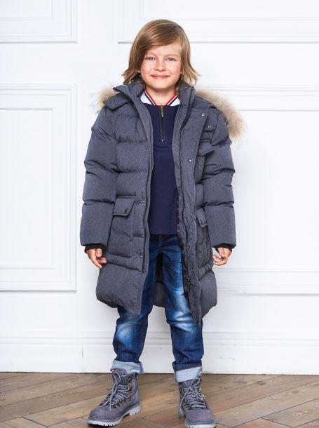 0794fa033d4 Фото1  Теплое пальто для мальчика