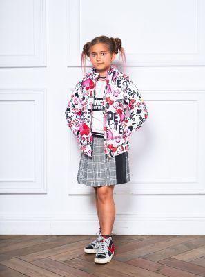 778433b5b63 Теплое пуховое пальто для девочки