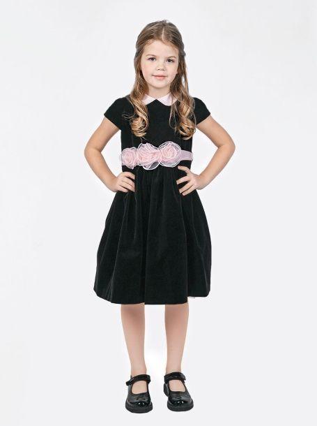 1017ab1fc58 Фото1  Бархатное платье для девочки