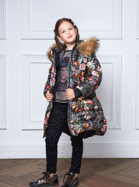 353f76bca08 Фото1  Теплое пуховое пальто для девочки